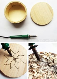 alisaburke: wood burned boxes
