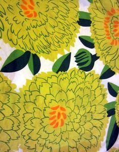 vintage  marimekko  Primavera  fabric design Maija Isola