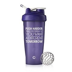 Push Harder Blender Bottle Shaker Cup, 28oz Classic Blender Bottles