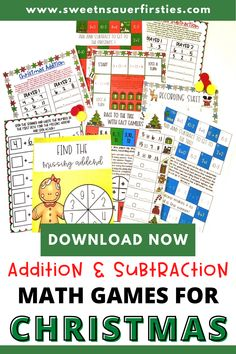 These addition and subtraction math games are perfect for Christmas. You'll love these interactive Christmas math games you can use during math centers, guided math, or math workshop. Check out these different math games that cover addition, subtraction, fact families, make a ten, missing addend, and mixed practice! Your students will absolutely love these Christmas addition and subtraction games they can play during morning work or as an early finishers activity.