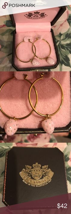 Juicy Couture Strawberry Hoop Earrings Juicy Couture Strawberry Hoop Earrings - NIB. These earrings have never been removed from box. Juicy Couture Jewelry Earrings