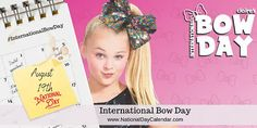 International Bow Day - August 19 Out Of Style, Your Style, National Day Calendar, World Days, National Days, Bow Accessories, August 19, At A Glance