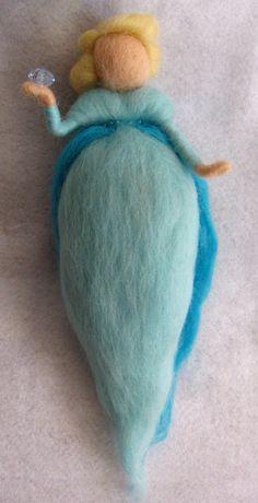 Elsa doll Frozen Needle Felted magic wool doll by theEnchantedWool.  Great gift, Kids room, Little girl room, needle felt creations
