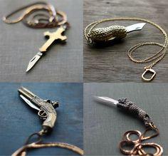 pocket knife necklaces!