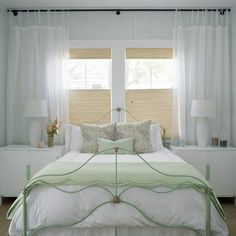 Bungalow At Home: Placing Your Bed In Front Of A Window (Lots of great pics and ideas)