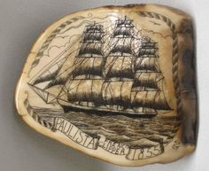 Scrimshaw on Fossilized Ivory