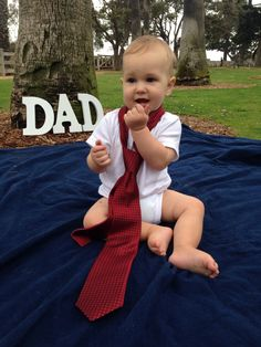 Father's Day gift from baby- Father's Day Photo shoot in tie