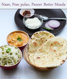 Lunch Menu 15 - With Naan, Peas Pulav And Pbm
