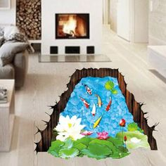 SHARE & Get it FREE | Active Removable 3D Lotus Pond Koi Carp Wall Art StickerFor Fashion Lovers only:80,000+ Items·FREE SHIPPING Join Dresslily: Get YOUR $50 NOW!