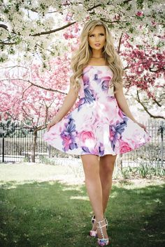 """We LOVE the way Stephanie Danielle styled our """"My Greatest Hits Floral Dress""""!!"""