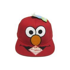 d8a9a61e320 Sesame Street Hat - Red Elmo Face Snapback Hat with Adjustable Strap  Amazon .co.uk  Clothing (39 CAD) found on Polyvore
