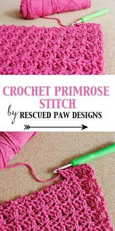 Crochet Primrose Stitch Tutorial - Free Pattern by Rescued Paw Designs #diy #fall #crafts