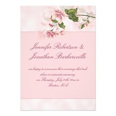 DealsWatercolor Pink Flowers Post Wedding Reception Custom InvitationsYes I can say you are on right site we just collected best shopping store that have
