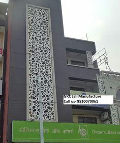 Grc Jali And Laser Cut Front Elevation In Delhi Noida