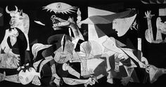 "Art from Spain / Pablo Picasso (Málaga 1881–1973). War and pain - ""The Guernica"". The painting was created  for the Exposition Internationale des Arts et Techniques dans la Vie Moderne (Paris International Exposition) in the 1937 World's Fair in Paris. The painting, is regarded by many art critics as one of the most moving and powerful anti-war paintings in history. - Museo Nacional Centro de Arte Reina Sofía, Madrid"