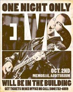 Officially Licensed Elvis Presley One Night Only Vintage Metal Sign
