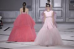 Models walk the runway at the Giambattista Valli Spring Summer 2015 fashion show during Paris Haute Couture Fashion Week on January 26, 2015 in Paris, France.
