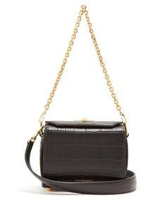 Box Bag 19 stud-embellished leather shoulder bag Alexander McQueen zm8BqFsHBD