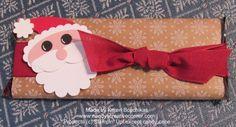 Punch Art Santa on Candy Bar www.nendyscreativecorner.com