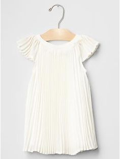 Chiffon pleated dress. If baby is a girl, this for baptism!