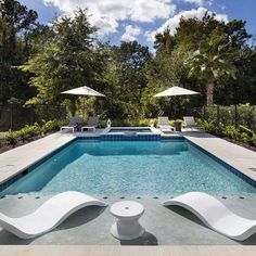 Backyard Pool Designs, Small Backyard Pools, Outdoor Pool, Small Inground Pool, Pools For Small Yards, Pool House Designs, Cozy Backyard, Backyard Play, Outdoor Dining