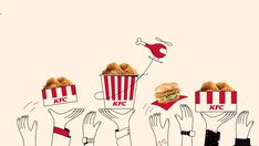 KFC_FoodCreds_01_ag | BUCK | Flickr Customer Journey Mapping, Food Branding, Creative Company, Free Iphone Wallpaper, Graphic Design Posters, Social Media Design, Food Illustrations, Creative Inspiration, Color Schemes