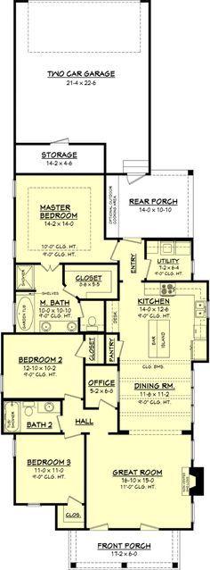 Cottage Style House Plan - 3 Beds 2 Baths 1550 Sq/Ft Plan #430-63 Main Floor Plan - Houseplans.com