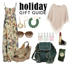 """green holiday mood"" by noviandri-ronal ❤ liked on Polyvore featuring beauty, Just Cavalli, See by Chloé, Steffen Schraut, Stuart Weitzman, Coach, Dominique Denaive, Napier, BillyTheTree and Gucci"