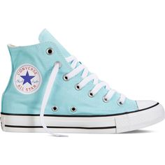 Converse Chuck Taylor All Star Fresh Colors – blue Sneakers (125 BRL) ❤ liked on Polyvore featuring shoes, sneakers, converse, blue, converse shoes, high top shoes, blue color shoes, star sneakers and blue shoes