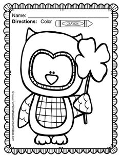 #FREE Sample Printable in Download and 50% OFF for the first two days! St. Patrick's Day Fun! Color For Fun Printable Coloring Pages {41 coloring pages equals less than 9 cents a page.} #TPT #StPats #StPatricks #StPatricksDay $Paid
