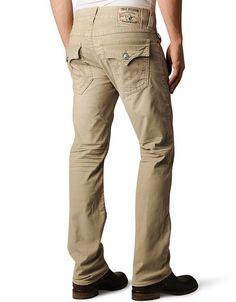 True Religion, MENS RICKY STRETCH CORDUROY PANT , bz straw, Mens : Pants, MCB859K327235