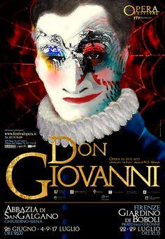 Emo Risaliti Lyric Opera Poster- Don Giovanni