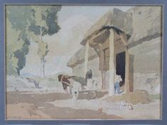Antiques Atlas - CYRIL WALDUCK EDWARDS 'The Old Barn' WATERCOLOUR
