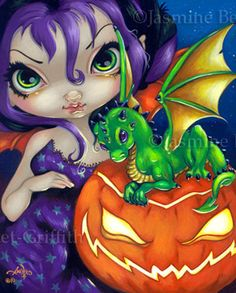 Dragon Fairy Art - Darling Dragonling 2 by Jasmine Becket-Griffith Halloween