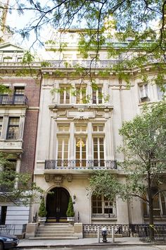Limestone townhouse on East 64th Street, New York.