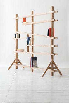 Konstruktionsprinzp für neues Bücherregal