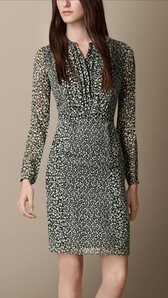 Floral Print Silk Dress | Burberry