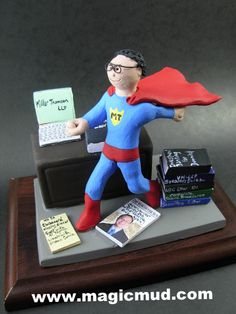 xmas gift for a lawyer Christmas Gift Personalized for Dad by http://www.magicmud.com 1 800 231 9814 creating a custom made gift figurine for Dad based on the things he likes to do! ...incorporating his work, sports, family, hobbies, food, drink, electronic gadgets, etc. $225 #dad #men #guys #christmas #birthday #anniversary #custom #personalized #xmas #present #award #ChristmasGift #BirthdayGift #husband #boyfriend #uncle #lawyer