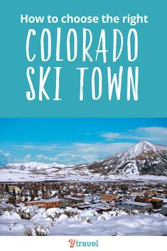 Planning a ski trip to Colorado? There are nearly 30 ski towns to choose from. Here are 6 of the best Colorado ski towns to help you choose when booking your ski trip. Pick from Vail, Aspen Snowmass, Breckenridge, Crested Butte, or Loveland Ski Resort. See inside for tips on these ski resorts and unique attractions and activities to help you plan your bucket list ski trip! #Colorado #Ski #Skiing #RockyMountains #AdventureTravel #traveltips