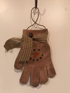 Hang on the wall, winter tree, or just lay around. Primitive stained snowman