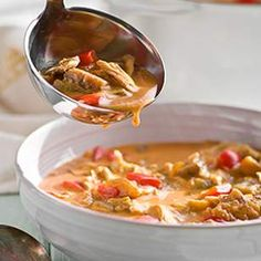 This healthy eggplant and chicken soup recipe, inspired by traditional Serbian cuisine, is seasoned with lemon, herbs, turmeric and two types of paprika.