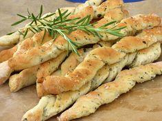 Zöldfűszeres grissini kenyérke recept Ring Cake, Canapes, Scones, Shrimp, Bakery, Chicken, Meat, Plants, Italia
