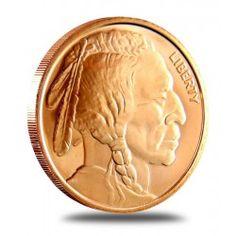 Buffalo Nickel 1 Ounce Copper Round