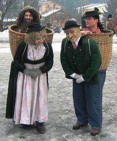 schoenperchten | Perchtenbrauch im Land Salzburg  (Clever costume idea!)