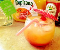 Tequila Sunrise:  1oz Silver Tequila  Orange Juice  .5oz Grenadine (or a float)  Cherry for garnish  Pour tequila and orange juice into an ice filled rocks glass. Stir well. Pour in grenadine. Garnish with a cherry and enjoy – this drink is delicious.