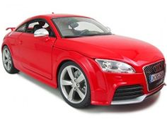The Burago Audi TT RS Red, is a diecast model car from this fantastic manufacturer in 1/18th scale.    Bburago's stunning range of 1/18 die cast cars cover subjects old and new including famous car brands like Morgan, Porsche, Lamborghini and Maserati. Each model has been replicated in 1/18 scale and features a factory painted metal body with multiple coloured plastic detailing parts.