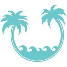 Silhouette Design Store - View Design #141770: palm tree frame