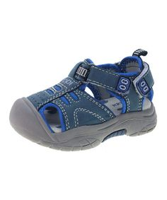 Take a look at this Blue Closed-Toe Sandals - Infant, Toddler Boys by