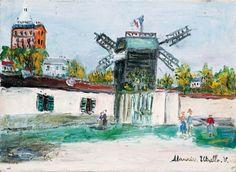 Maurice Utrillo, La Moulin de la Galette à Montmartre