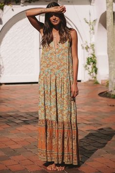 Elephant Sleeveless Holiday Maxi Long Dress -2color Frilly Dresses, Casual Dresses, Summer Dresses, Floral Dresses, Mini Dresses, Modest Outfits, Summer Clothes, Bohemian Beach, Boho Chic